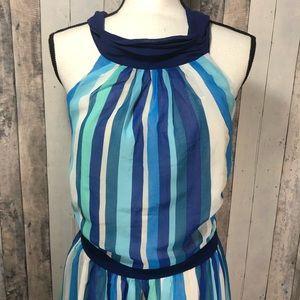Modcloth Dresses - Modcloth Vertical Stripe Halter High Low Dress 2x